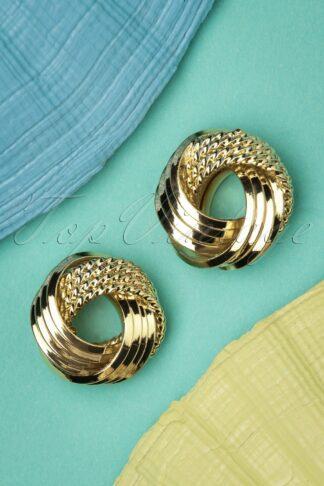 50s Leah Earrings in Gold