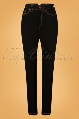 50s Melly Jeans in Black