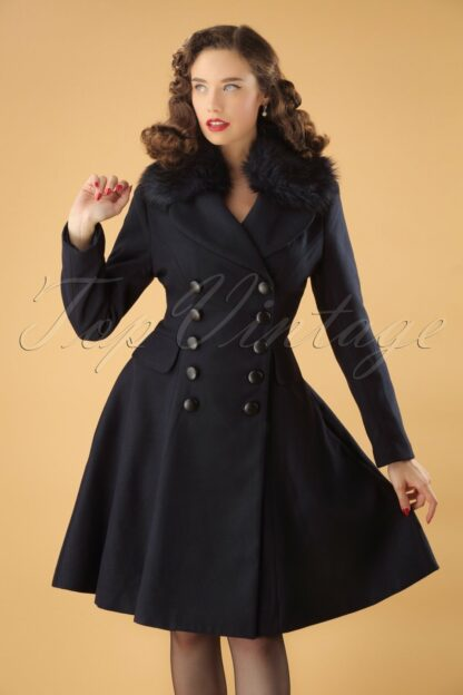 50s Milan Coat in Navy