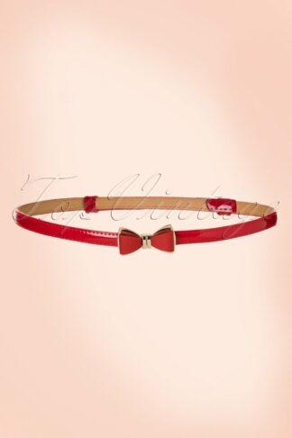50s Ocean Avenue Bow Belt in Red