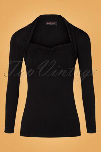 50s Party Bolero Shirt in Black
