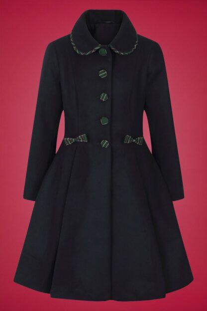 50s Tiddlywinks Coat in Navy
