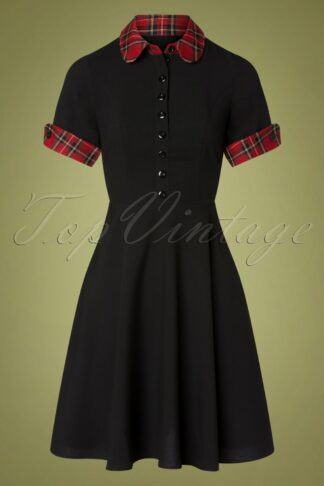50s Tiddlywinks Dress in Black