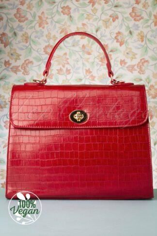 50s Versailles Handbag in Red