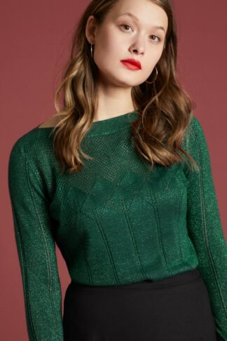 60s Audrey Solo Top in Pine Green