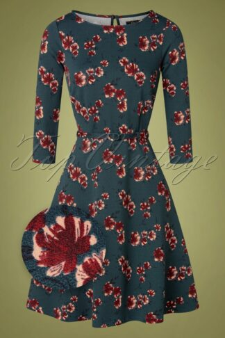 60s Betty Amori Dress in Pond Blue