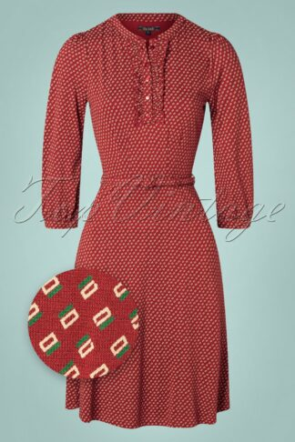 60s Caro Coney Dress in Ribbon Red