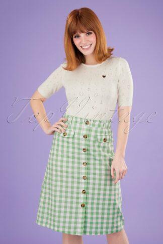 60s Caroll Legend Skirt in Island Green