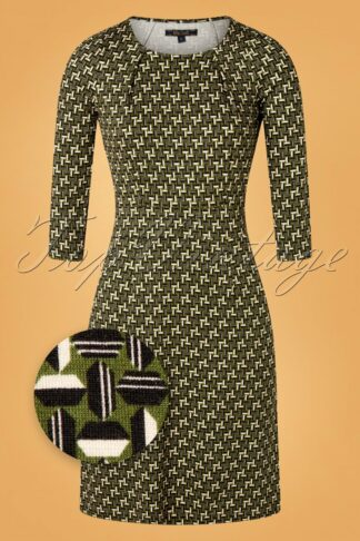 60s Mona Noshi Dress in Olive Green