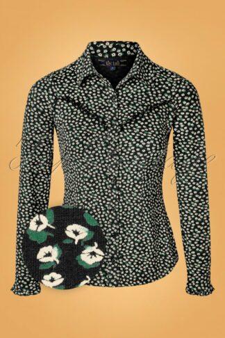 60s Nala Sevres Blouse in Black
