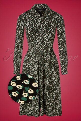 60s Olive Sevres Dress in Black