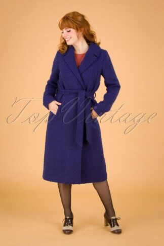 60s Robin Ottawa Coat in Dazzling Blue