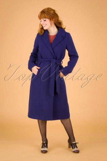 60s Robin Ottawa Coat in Dazzling Blue