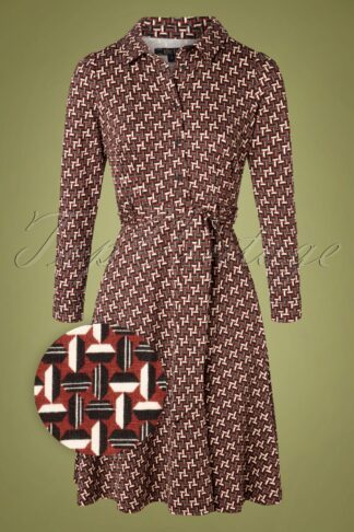 60s Sheeva Noshi Dress in Henna Red
