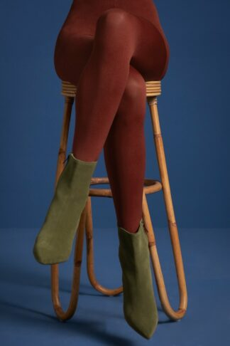 60s Solid Tights in Sandelwood Brown