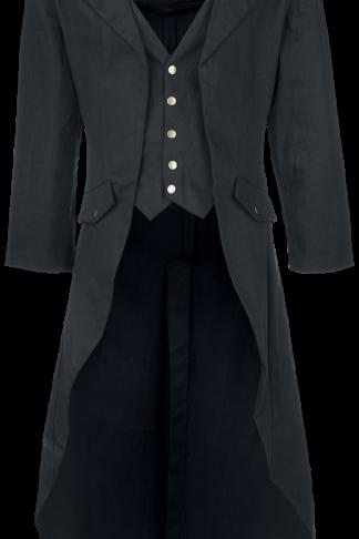 Banned Alternative - Dovetail Coat - Militärmantel - schwarz