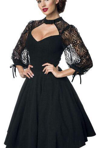 Belsira - Lacedress - Kleid knielang - schwarz