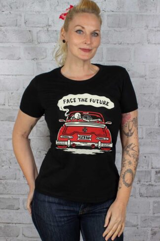 Cartel Ink Ladies T-Shirt - Face the future von Rockabilly Rules