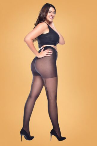 Curvy Super Stretch Jive Tights in Black