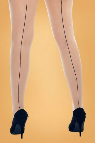 Curvy Super Stretch Jive Tights in Nude and Black