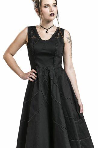 H&R London - Braided Raven Dress - Kleid knielang - schwarz
