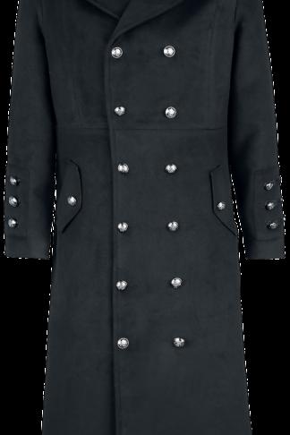 H&R London - Classic Military Coat - Wintermantel - schwarz - EMP Exklusiv!