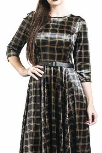 H&R London - Luna Swing Dress - Kleid knielang - schwarz