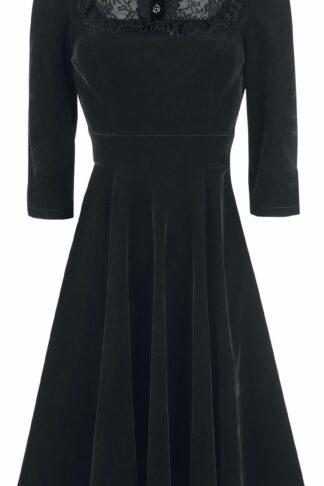 H&R London - Nightshade Velvet Dress - Kleid knielang - schwarz