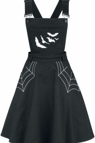 Hell Bunny - Miss Muffet Pinafore Dress - Kurzes Kleid - schwarz