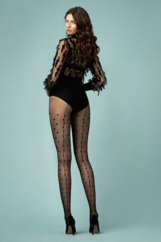 Joie Dotted Tights in Black