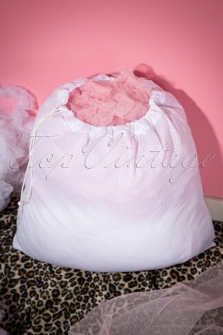 Petticoat Wash Bag in White