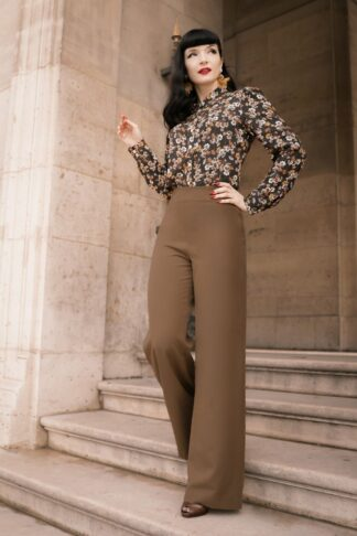 TopVintage exclusive ~ 40s Marlene Pants in Caramel