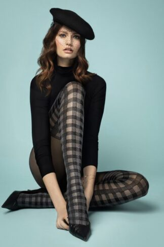 Twist Again Tights in Black and Grey