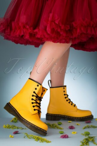 1460 Smooth Ankle Boots in Yellow