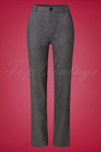 40s Debbie Trousers in Grey