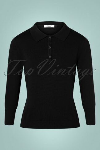 50s Audry Knit Top in Black