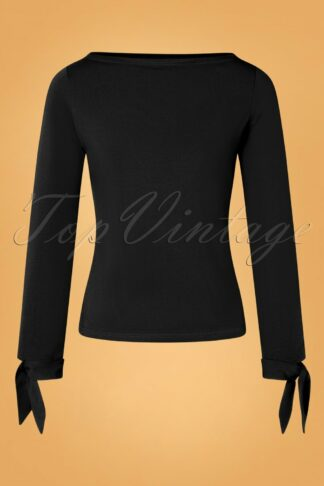 50s Babette Bow Top in Black