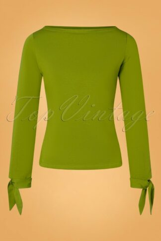 50s Babette Bow Top in Olive