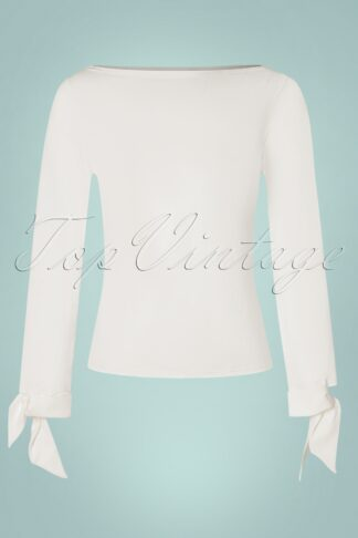 50s Babette Bow Top in White