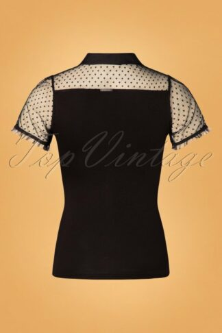 50s British Blouse in Black