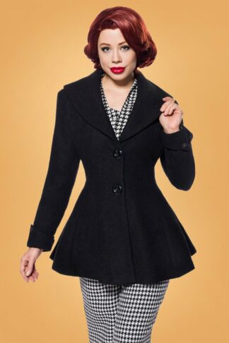 50s Carlie Jacket in Black Wool