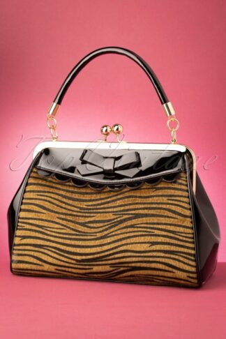 50s Crazy Little Tiger Handbag in Black