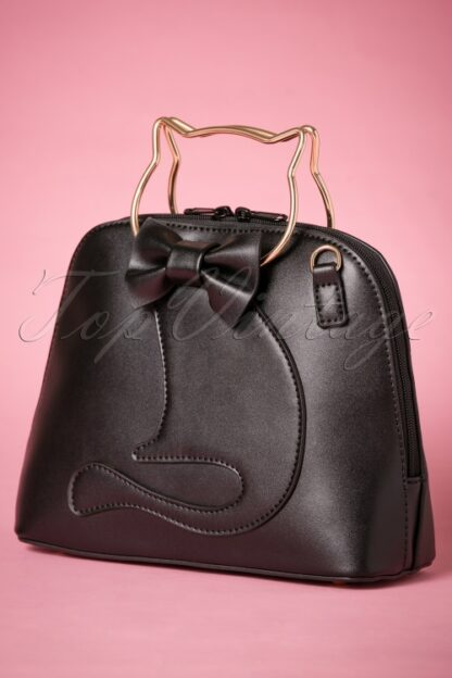 50s Dixie Cat Bag in Black