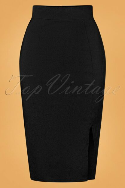 50s Eleonora Pencil Skirt in Black