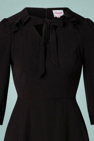 50s Gals Night Swing Dress in Black