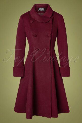50s Grace Swing Coat in Burgundy