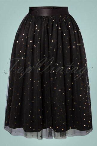 50s Infinity Swing Skirt in Black