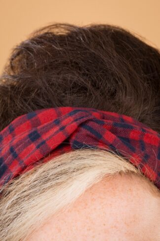 50s Jeannie Headband in Red and Navy