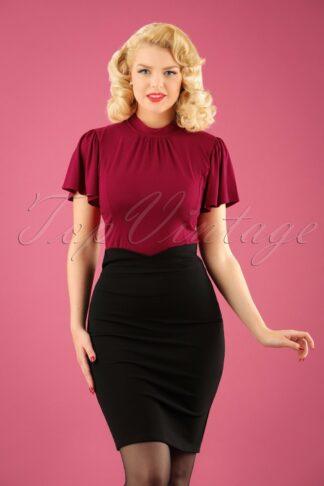 50s Karen Pencil Skirt in Black