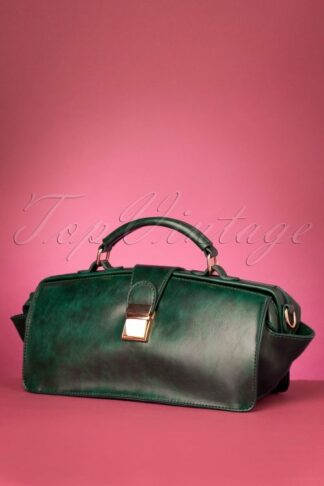 50s Keira Doctors Bag in Green